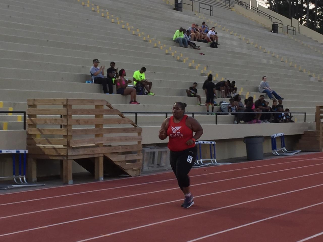 400M finish All Comers Track Meet 2017